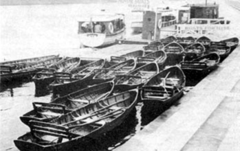 The Trevethick fleet at the Victoria Embankment c.1950.  Photograph Courtesy of Tom Trevethick
