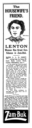 Zam Buk Advert - Miss Guest